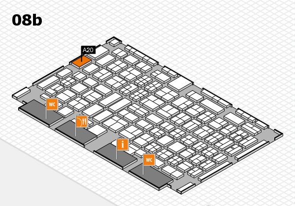 COMPAMED 2017 Hallenplan (Halle 8b): Stand A20