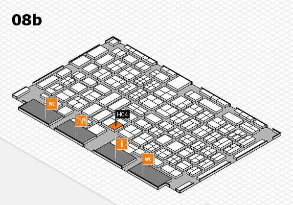 COMPAMED 2017 hall map (Hall 8b): stand H04