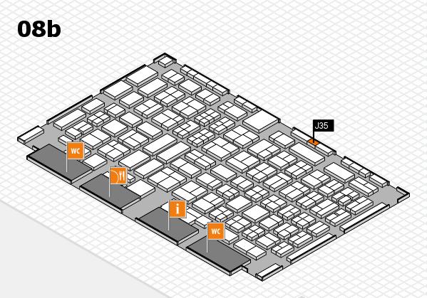 COMPAMED 2017 hall map (Hall 8b): stand J35