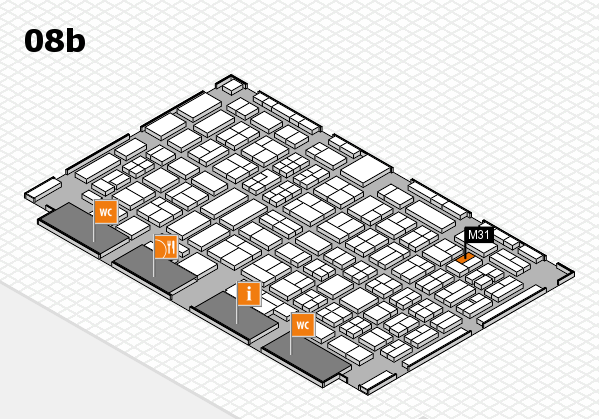 COMPAMED 2017 hall map (Hall 8b): stand M31