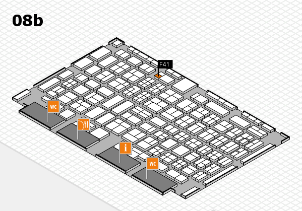 COMPAMED 2017 hall map (Hall 8b): stand F41