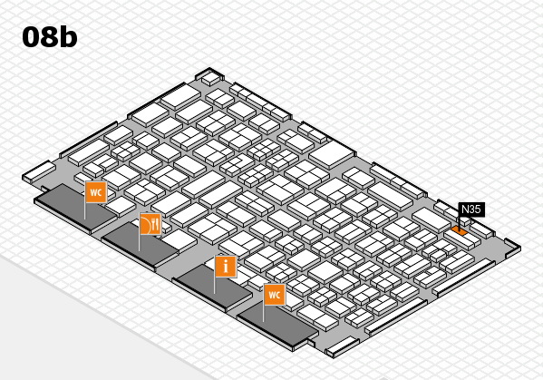 COMPAMED 2017 hall map (Hall 8b): stand N35