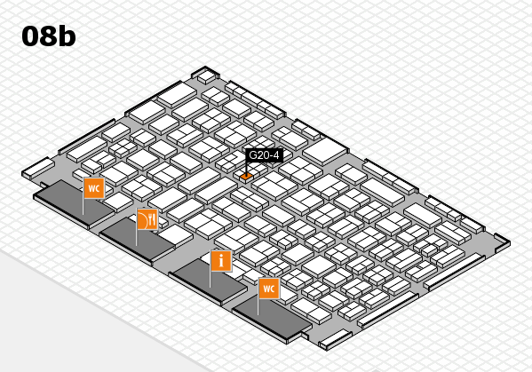 COMPAMED 2017 hall map (Hall 8b): stand G20-4
