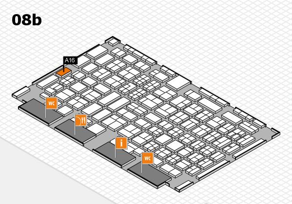 COMPAMED 2017 Hallenplan (Halle 8b): Stand A16