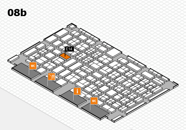COMPAMED 2017 hall map (Hall 8b): stand E14