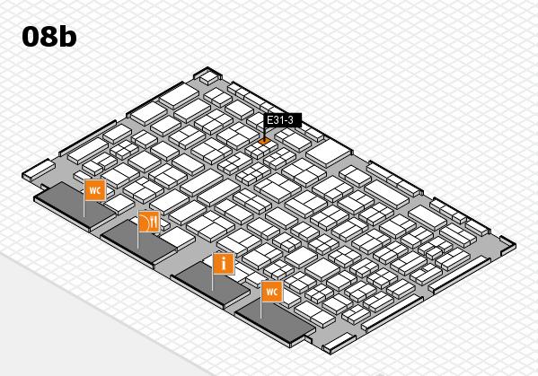 COMPAMED 2017 Hallenplan (Halle 8b): Stand E31-3
