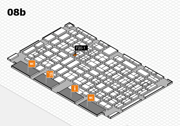 COMPAMED 2017 hall map (Hall 8b): stand F20-1