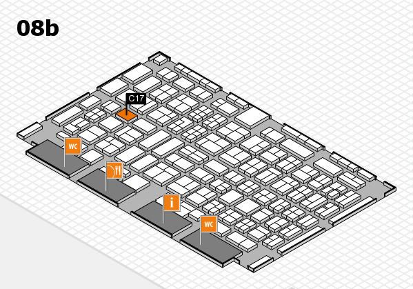 COMPAMED 2017 hall map (Hall 8b): stand C17