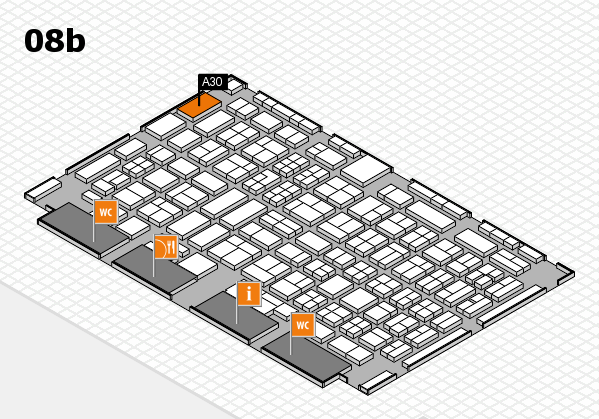 COMPAMED 2017 Hallenplan (Halle 8b): Stand A30
