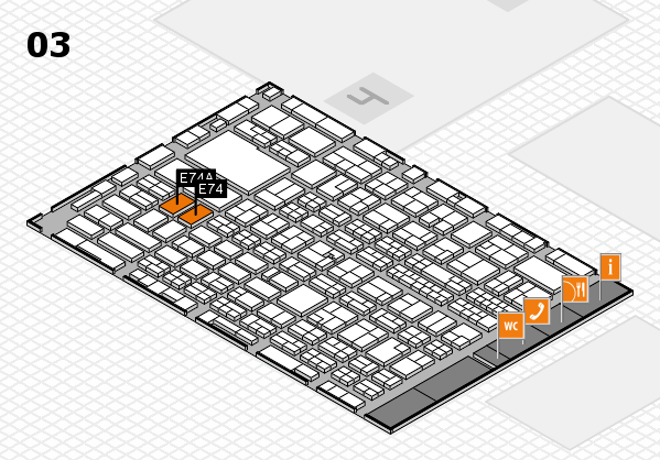 MEDICA 2017 hall map (Hall 3): stand E74, stand E74A