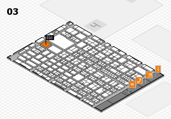 MEDICA 2017 hall map (Hall 3): stand E93