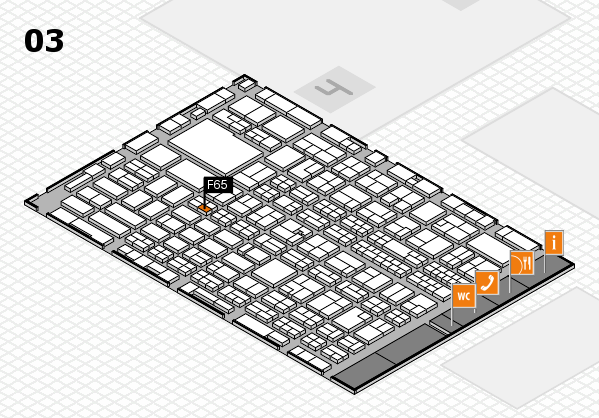 MEDICA 2017 hall map (Hall 3): stand F65