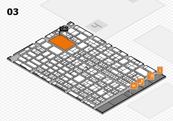 MEDICA 2017 hall map (Hall 3): stand C80