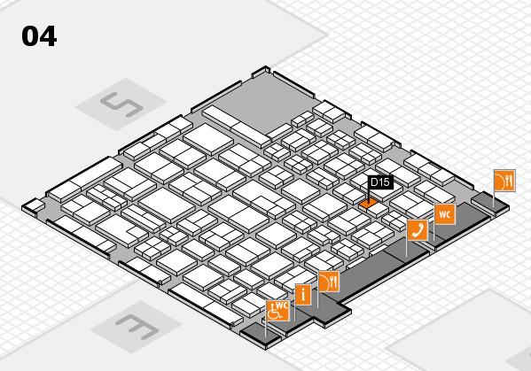 MEDICA 2017 hall map (Hall 4): stand D15