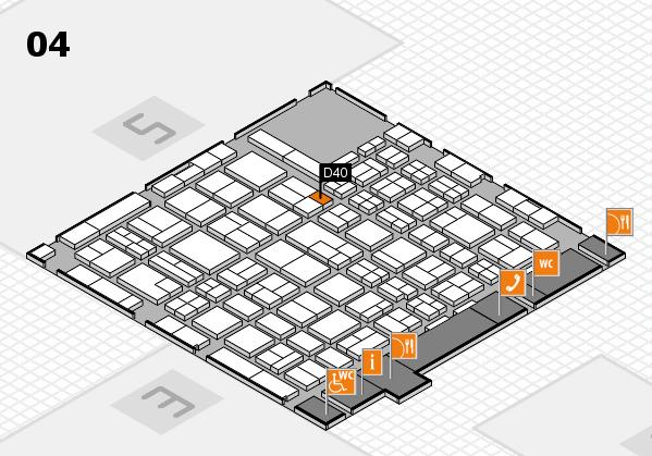 MEDICA 2017 hall map (Hall 4): stand D40