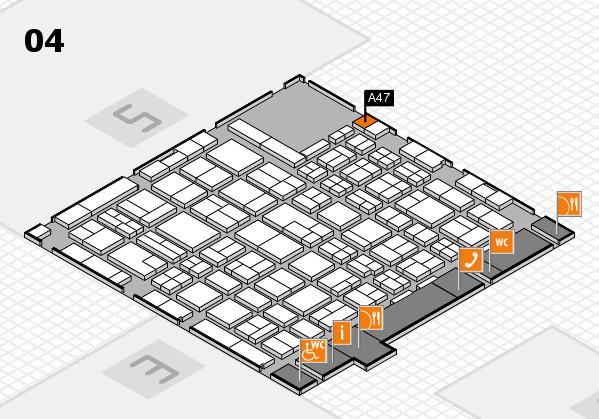 MEDICA 2017 hall map (Hall 4): stand A47