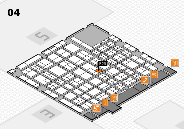 MEDICA 2017 hall map (Hall 4): stand E26