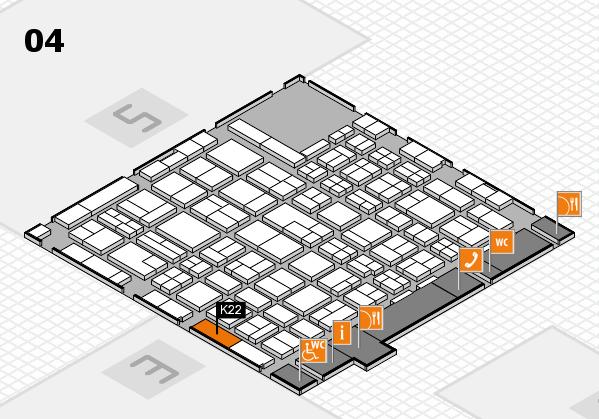 MEDICA 2017 hall map (Hall 4): stand K22