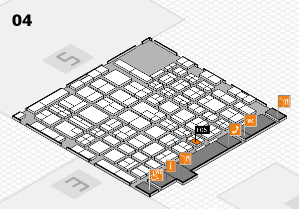 MEDICA 2017 hall map (Hall 4): stand F05