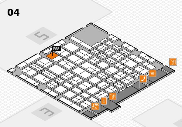 MEDICA 2017 hall map (Hall 4): stand F58