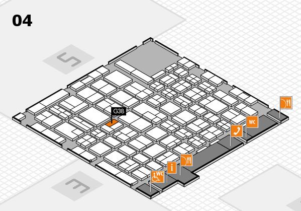 MEDICA 2017 hall map (Hall 4): stand G38