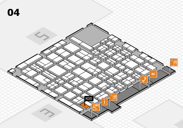 MEDICA 2017 hall map (Hall 4): stand K05