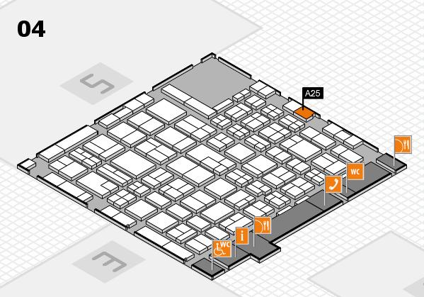 MEDICA 2017 hall map (Hall 4): stand A25