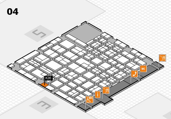 MEDICA 2017 hall map (Hall 4): stand K36