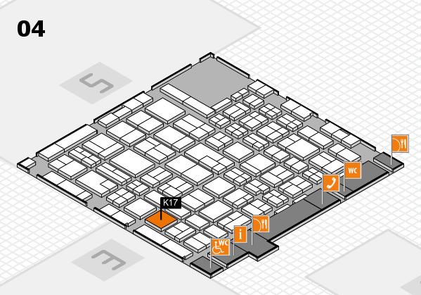 MEDICA 2017 hall map (Hall 4): stand K17