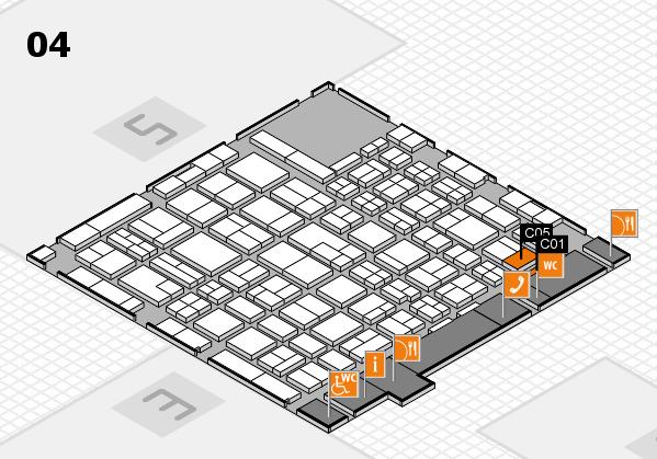 MEDICA 2017 hall map (Hall 4): stand C05