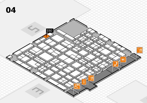 MEDICA 2017 hall map (Hall 4): stand E60