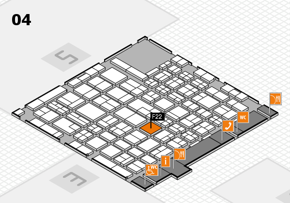MEDICA 2017 hall map (Hall 4): stand F22