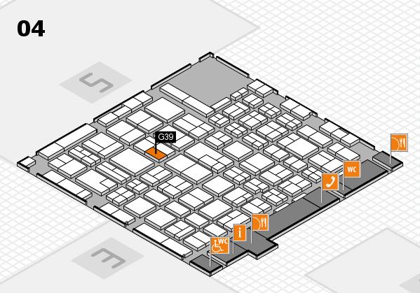 MEDICA 2017 hall map (Hall 4): stand G39