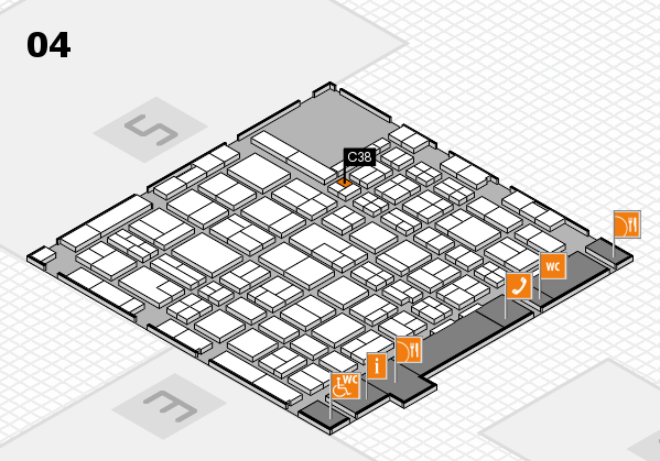 MEDICA 2017 hall map (Hall 4): stand C38