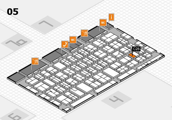 MEDICA 2017 hall map (Hall 5): stand C28