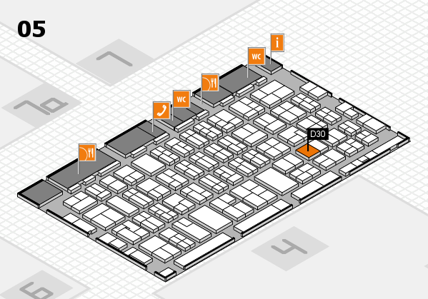 MEDICA 2017 hall map (Hall 5): stand D30