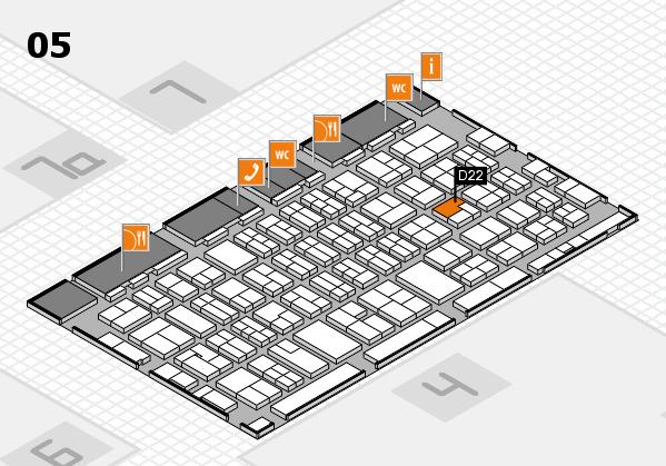 MEDICA 2017 hall map (Hall 5): stand D22