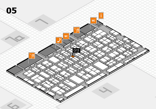 MEDICA 2017 hall map (Hall 5): stand G13