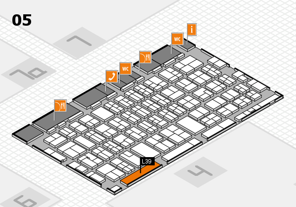 MEDICA 2017 hall map (Hall 5): stand L39