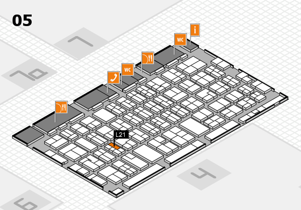 MEDICA 2017 hall map (Hall 5): stand L21