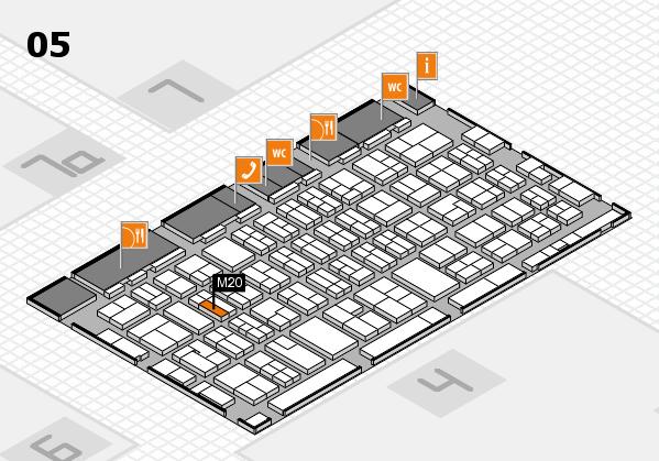 MEDICA 2017 hall map (Hall 5): stand M20