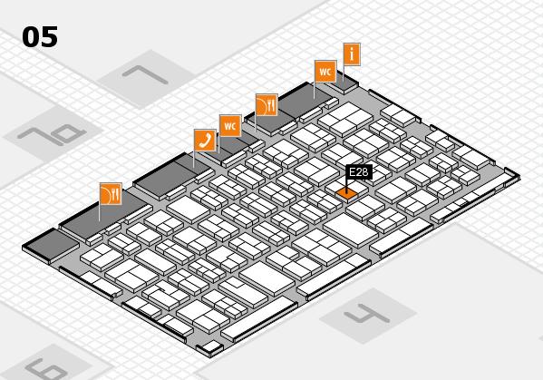 MEDICA 2017 hall map (Hall 5): stand E28