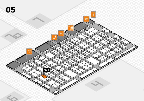 MEDICA 2017 hall map (Hall 5): stand N21