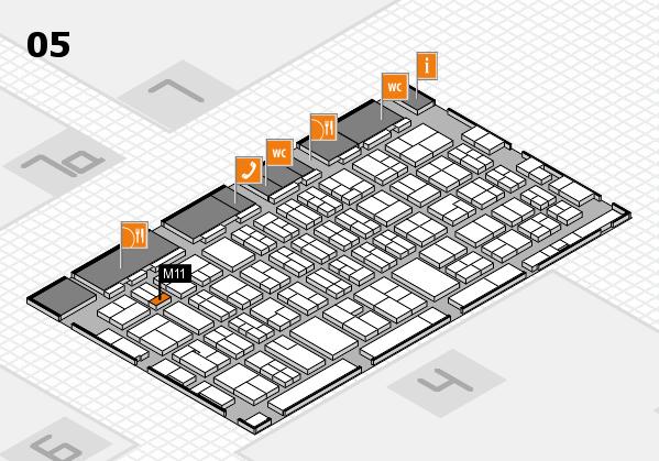 MEDICA 2017 hall map (Hall 5): stand M11