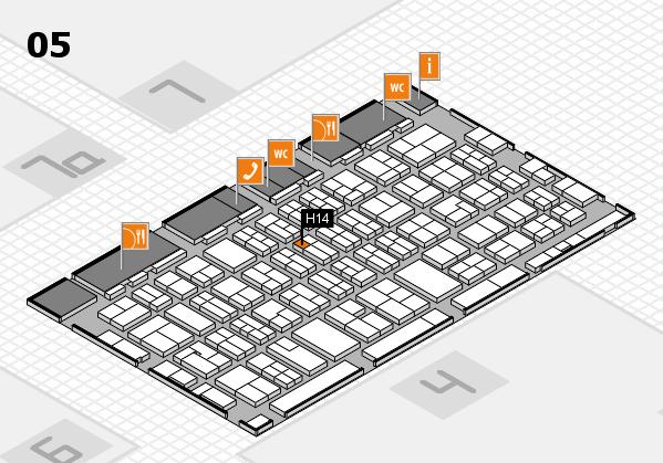 MEDICA 2017 hall map (Hall 5): stand H14