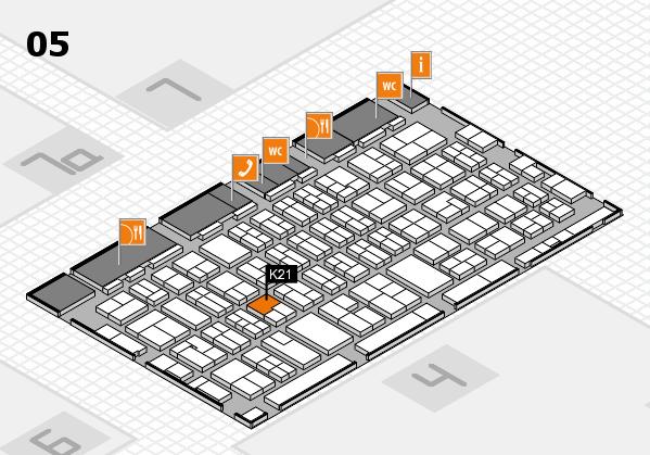 MEDICA 2017 hall map (Hall 5): stand K21