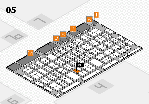 MEDICA 2017 hall map (Hall 5): stand K30