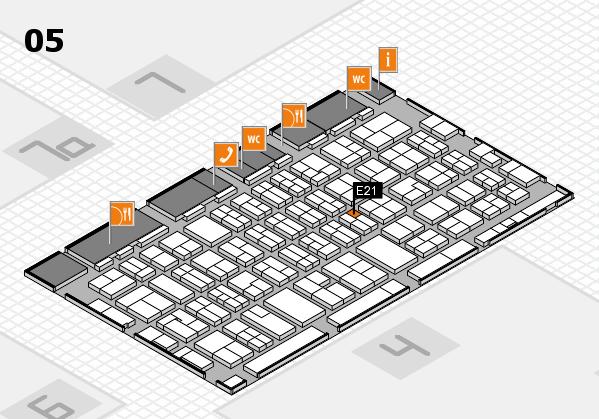 MEDICA 2017 hall map (Hall 5): stand E21