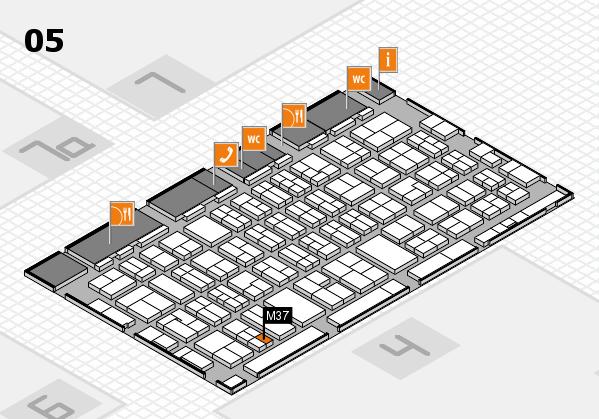 MEDICA 2017 hall map (Hall 5): stand M37