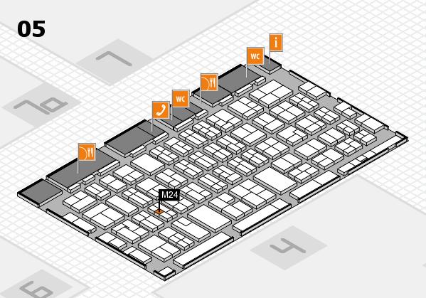 MEDICA 2017 hall map (Hall 5): stand M24